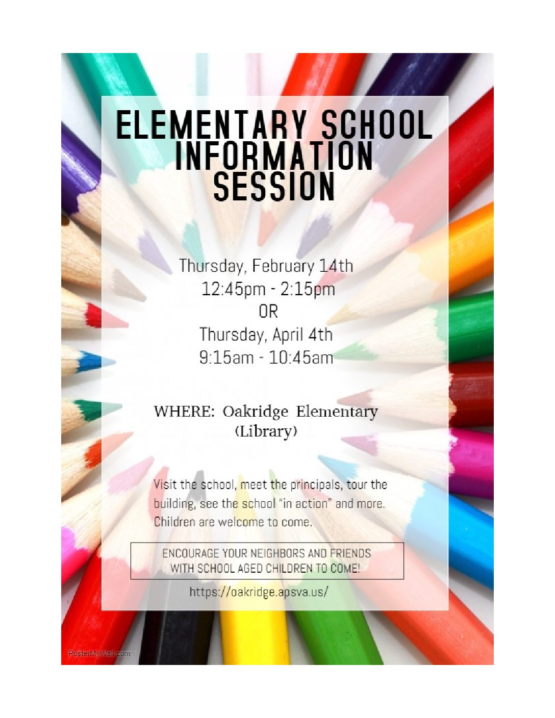 Elementary School Information Session
