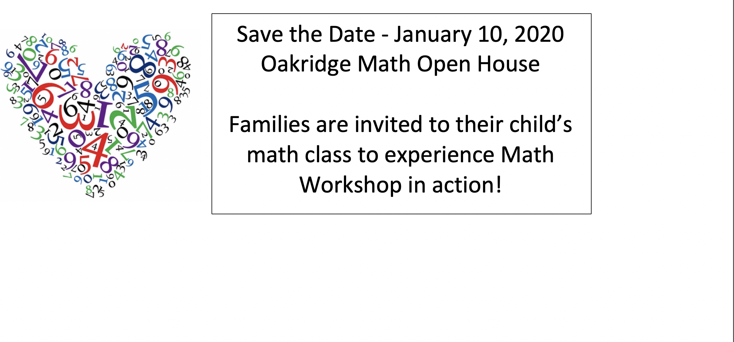 Oakridge Math Open House