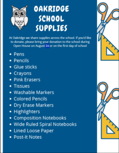 School Supply donate